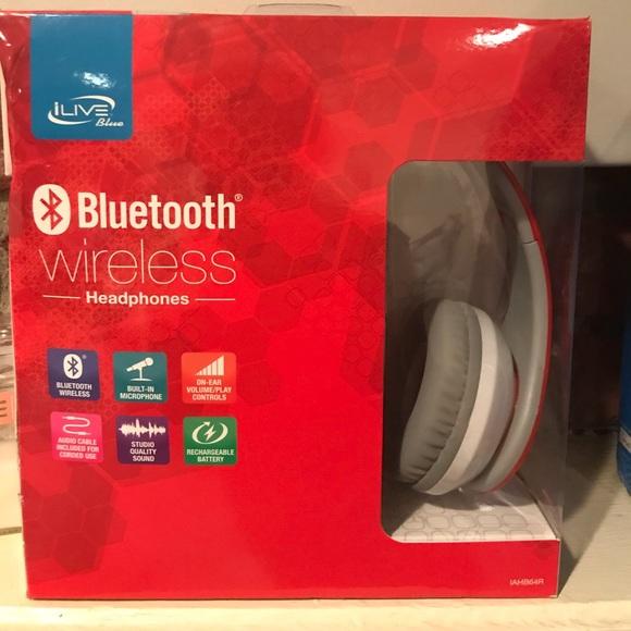 6009edf6e28 iLive Other | Bluetooth Wireless Headphones Red | Poshmark